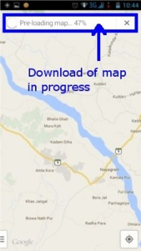 Google Maps offline on Android