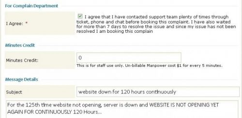 Manashosting Review Complaint Booking