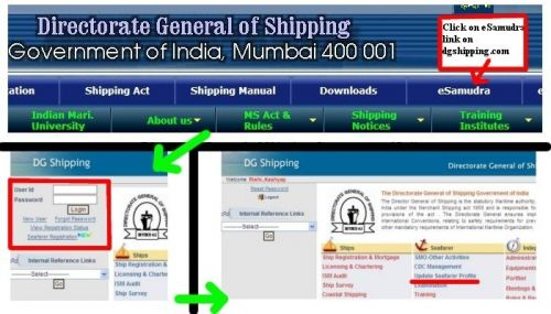 e samudra DG Shipping Seafarer profile registration